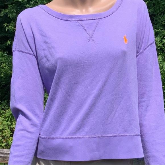 c38fc581 Polo Cropped Oversized Purple Sweat Shirt